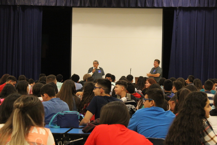Mr Lujan welcomes students