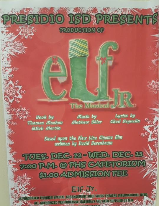 """Elf"" the musical Jr."