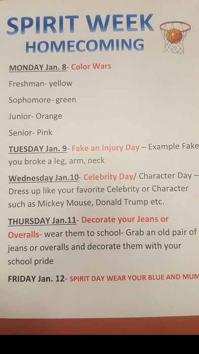 HOMECOMING WEEK OF ACTIVITIES